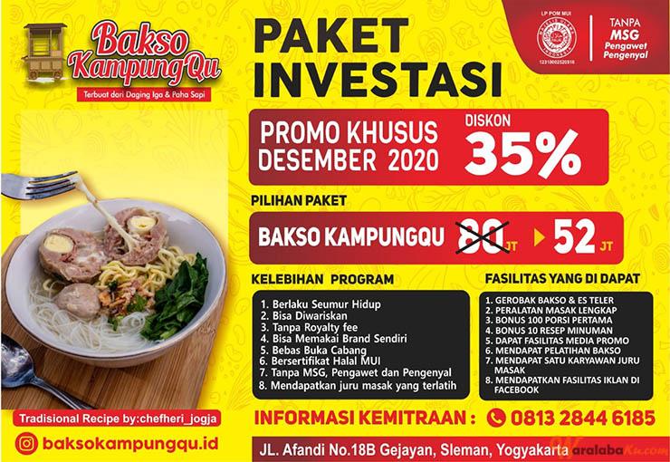 Franchise Bakso KampungQu   Peluang Bisnis Bakso Gerobakan ...
