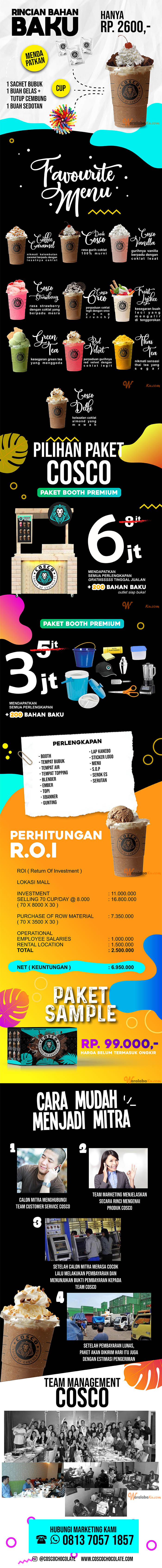 Franchise Peluang Usaha Minuman COSCO (CHOISE OF CHOCOLATE)