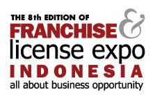 The 8th Edition of FRANCHISE & LICENSE EXPO INDONESIA Logo